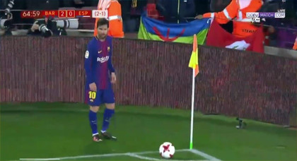 ميسي و العلم الامازيغي يخلقان الحدث في بطولة كأس ملك اسبانيا