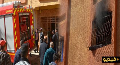 الدريوش.. اندلاع حريق بمنزل باشا مدينة بن الطيب والألطاف الإلهية تحول دون إصابة أفراد عائلته بمكروه