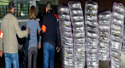 اعتقال مواطنة حاولت تهريب كمية من المخدرات لسجين تونسي