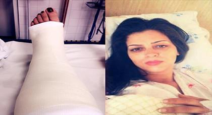 أمال صقر في المستشفى بسبب كسر خطير على مستوى ساقها