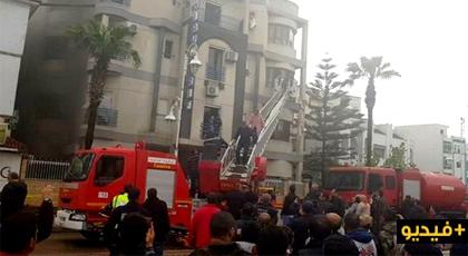 """اندلاع حريق مهول """"بمصحة الريف"""" ومرضى يواجهون الموت وسط النيران"""