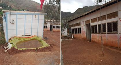 """الوضع الكارثي لمدرسة """"أزغول"""" الابتدائية بتمسمان تؤرق أولياء التلاميذ"""