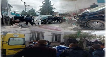 خطير..قتلى و جرحى في حادث دهس سيارة لمجموعة من المارة