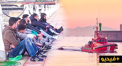 الحرس المدني الاسباني ينقذ 40 مهاجرا سريا عرض سواحل المتوسط