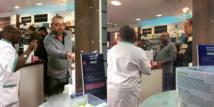 شاهد صور جديدة للملك محمد السادس داخل صيدلية بفرنسا تثير إعجاب المغاربة