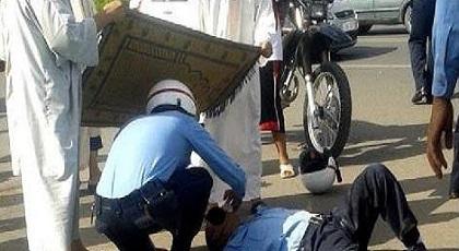 شرطي يتعرض لكسر جمجمته بعد هجوم عليه بالحجارة