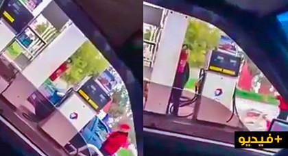 حذاري.. فيديو يكشف طريقة جديدة للنصب عليكم في محطات البنزين