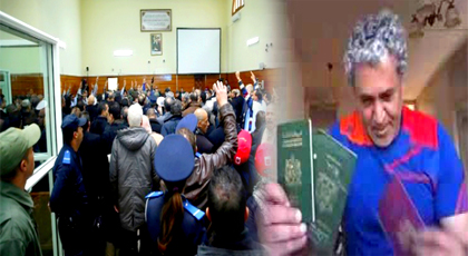 """عرض فيديو للناشط """"بوجبار"""" وهو يحرق بطاقته الوطنية يفجر محاكمة الزفزافي ورفاقه"""