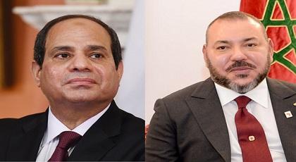 """الملك يهنئ الرئيس المصري """"السيسي"""" بمناسبة إعادة انتخابه رئيسا للجمهورية"""