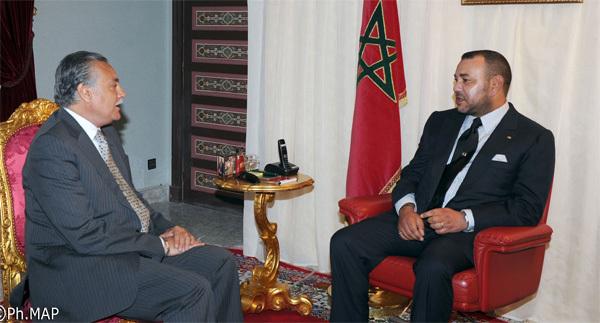 صاحب الجلالة يستقبل بالناظور الوزير الأول البرتغالي والسيد محمد نبيل بنعبد الله