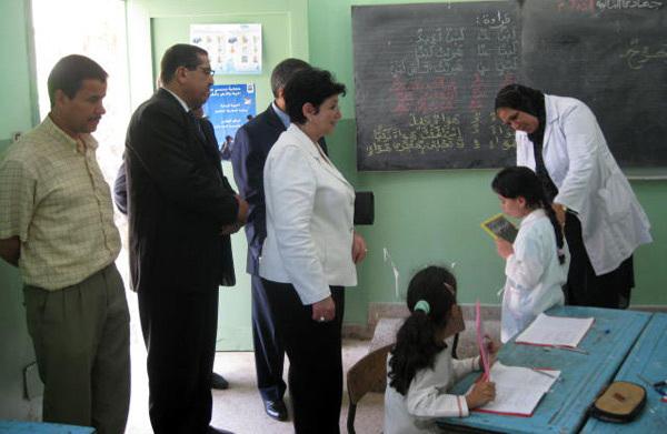 لطيفة العبيدة كاتبة الدولة في التعليم المدرسي تقوم بزيارة ميدانية لمركز التربية البيئية بالناظور