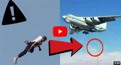 بالفيديو: شاهد العسكري الوحيد الذي قفز من الطائرة الجزائرية
