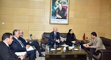 رئيس جهة الشرق يستقبل المديرة العامة بالنيابة للتكوين المهني وإنعاش الشغل لتوقيع هذه الاتفاقيات