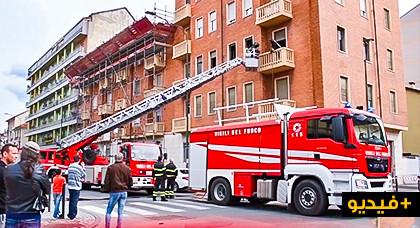 نجاة طفلين من الموت باعجوبة بعدما حاصرت النيران شقة كانا بها  لوحدهما