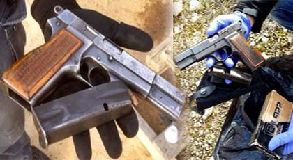 بالصور.. العثور على مسدس بمطرح النفايات يستنفر السلطات المحلية والأجهزة الأمنية