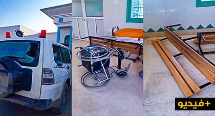 تنظيم نقابي يحمل السلطة المحلية و أمن الدريوش مسؤولية هجوم أحد المدمنين على مركز صحي