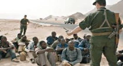 إعتقال عشر مهاجرين جنوب صحراويين بوجدة بحوزتهم خرطوش مسدس