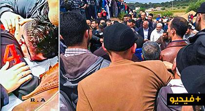 الحسيمة: حشود غفيرة تشيع جثمان والد المعتقل الحراكي إلياس الحاجي وسط حضور أمني مكثف