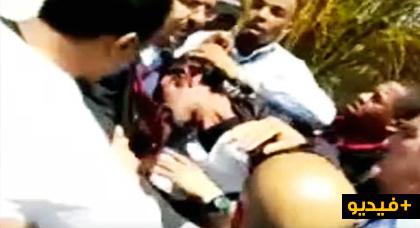 فيديو بين المصلين.. لحظة القبض على الشخص الذي هاجم إمام مسجد حسان بسيف