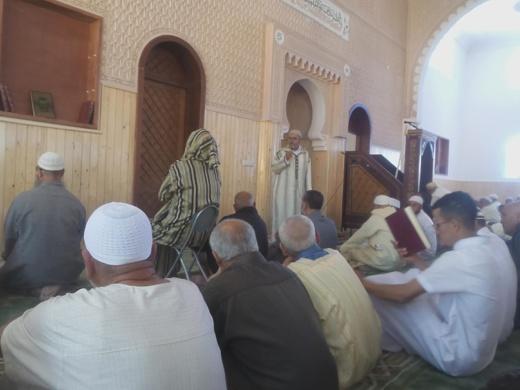 أبرشان يشارك في إفتتاح أكبر مسجد بجماعة إعزانن