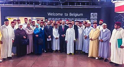 تجمع مسلمي بلجيكا يستقبل البعثة المغربية المتكونة من المقرئين و الوعاظ و الواعظات لإحياء شهر رمضان المبارك