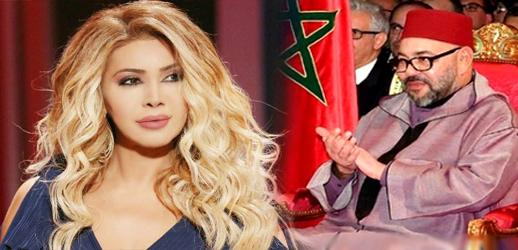 الفنانة اللبنانية نوال الزغبي تتلقى برقية من الملك محمد السادس وهذا ما جاء فيها