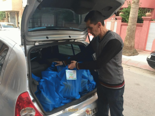 توزيع 2500 وجبة إفطار وقفف وملابس على المحتاجين والأيتام بوجدة