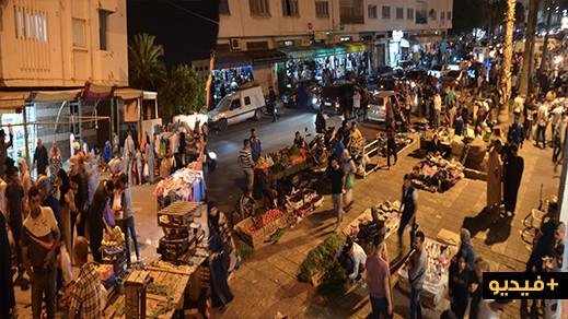 شاهدوا أجواء ليلة العيد بالناظور رواج تجاري في جميع الأسواق