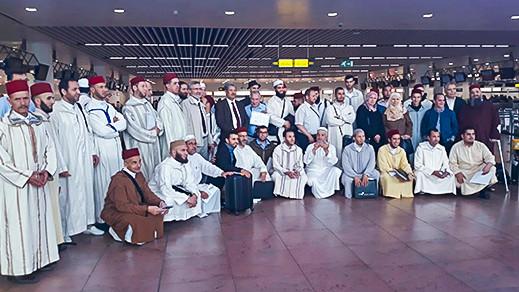 تجمع مسلمي بلجيكا يودع بعثتي وزارة الأوقاف و الشؤون الإسلامية و مؤسسة الحسن الثاني للمغاربة