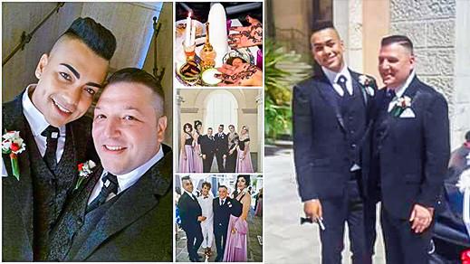 صور.. حفل زفاف بين مثلي مغربي وصديقه الايطالي يثير ضجة بين الجالية