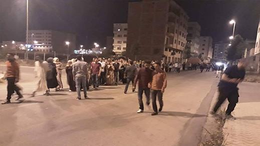 احتجاجات ليلية في سلوان تنديدا بالاحكام القضائية في حق معتقلي حراك الريف
