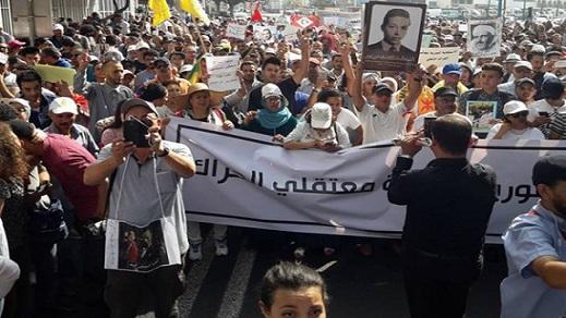 أزيد من 45 هيئة حقوقية تضم صوتها للداعين للمسيرة الوطنية الداعمة لمعتقلي الريف وسط البيضاء