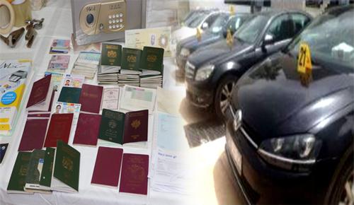 أختام وسيارات فارهة ووثائق مزورة.. هذه حصيلة تفكيك عصابة تنشط في مجال التزوير والهجرة
