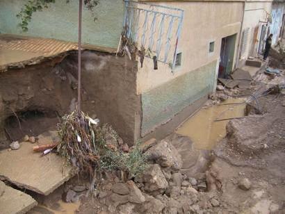 المنكوبون بالدريوش جراء الفيضانات في انتظار السكن الاقتصادي