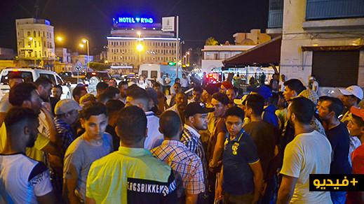 اندلاع احتجاج صاخب ضد رفع التسعيرة الليلية للنقل العمومي وسط الناظور