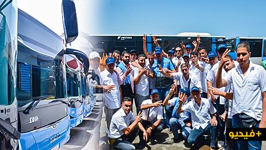 بعد مرور شهر على انطلاقها.. العمال يجمدون حركة الحافلات الجديدة بالناظور
