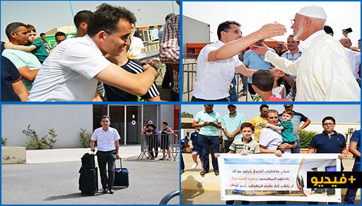 """حشد من فعاليات الناظور والعروي في استقبال العالم الريفي """"سعيد الحمديوي"""" وسط تأثر شديد حد البكاء"""