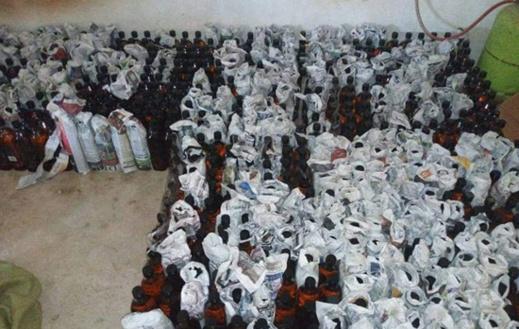 بالصور.. الدرك الملكي بسلوان يحجز 1400 قنينة ويسكي