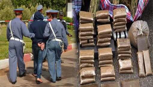 سقوط مروج للمخدرات في قبضة درك أركمان وبحوزته كمية مهمة من الحشيش والخمور المهربة