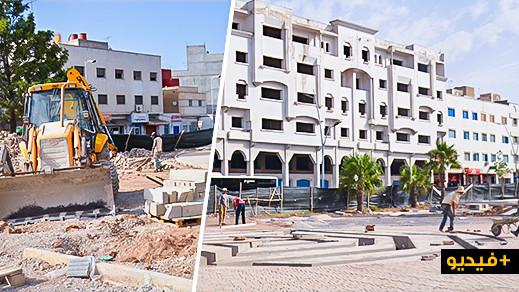 """ربورتاج.. تقدم أشغال إحداث محطة خاصة لسيارات الأجرة بـ""""ساحة 3 مارس"""" وسط الناظور"""