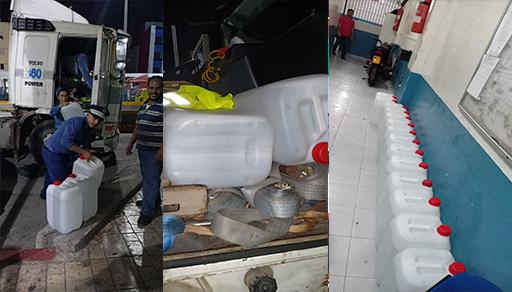جمارك باب مليلية تضبط شاحنة محملة بـ 425 لترا من الكحول المهرب