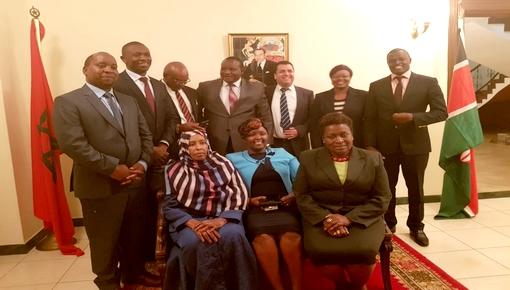 السفير المغربي بكينيا المختار غامبو ينجح في تأسيس الجمعية البرلمانية الكينية المغربية بحضور قادة أفارقة