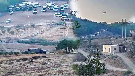 """مثير.. السلطات تشن أكبر حملة شعواء على مخيم """"بولينغو"""" وتعتقل مئات المهاجرين الأفارقة بالناظور وضواحيها"""