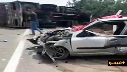 شاهدوا.. أول فيديو للحادثة المروعة التي هزت طريق السعيدية والتي راح ضحيتها 3 أشخاص