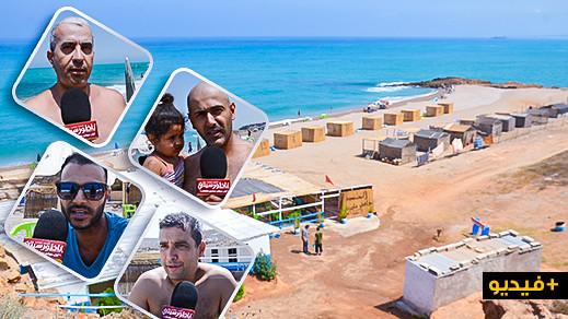 """ربورتاج.. سحر شاطئ """"افري اوفوناس"""" يستقطب عائلات من مدن بعيدة لقضاء عطلة الصيف"""