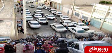 شارع القيسارية بالناظور ومحطة الطاكسيات ... معانات لاتنتهي ومطالب في قاعة الإنتظار
