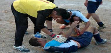 كسر كاحل احد اللاعبين في مباراة نهضة زايو والنجم الأخضر التارجيستي