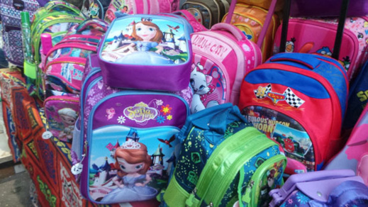 حجز ازيد من 20  ألف حقيبة مدرسية مزورة كانت في طريقها إلى المغرب