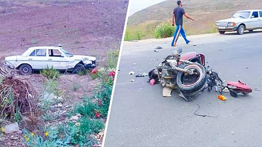 حادثة سير خطيرة ترسل شابين إلى المستشفى بعد اصطدام درّاجة نارية بسيارة أجرة قرب بني شيكر