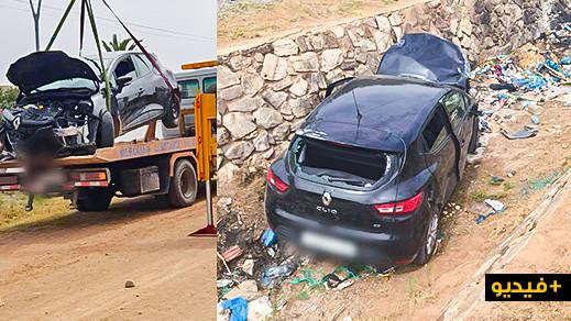انقلاب سيارة في أحد الأودية بمدخل مدينة الناظور ودركي يتلفظ بكلام غير أخلاقي في حق مواطنين